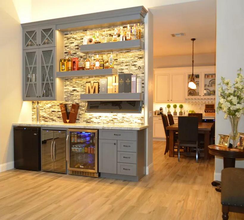 Interior Design Ideas For Home Bar: Modern Home Bar Interior Designs